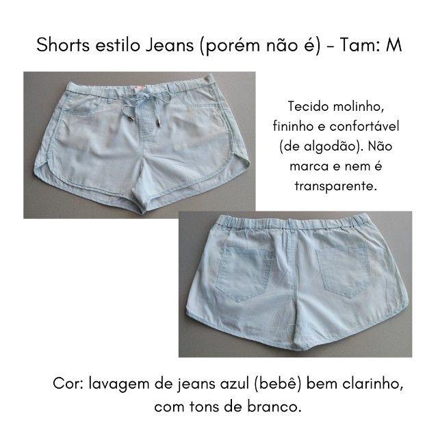 Short (imita jeans) M - Foto 2