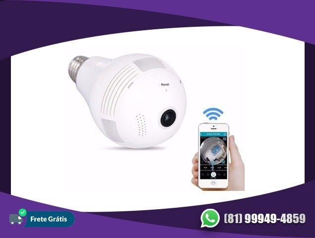 Lâmpada Espiã Câmera LED