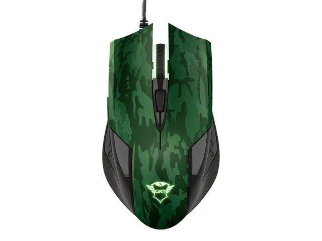 mouse gamer trust rixa camo verde camuflado 3200dpi usb com mouse pad - Foto 4