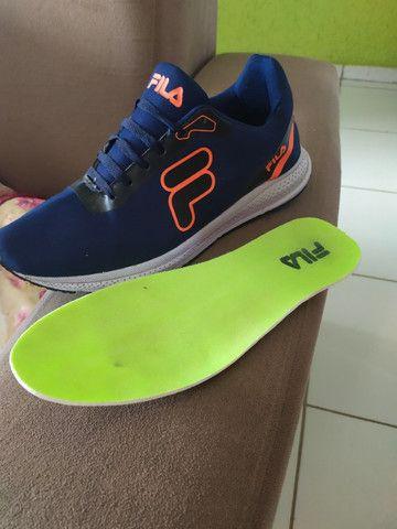 Tênis FILA azul escuro lindo tênis - Foto 3