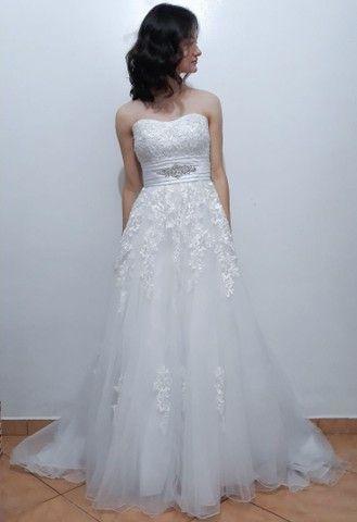 Vestido de noiva, com véu  - Foto 2