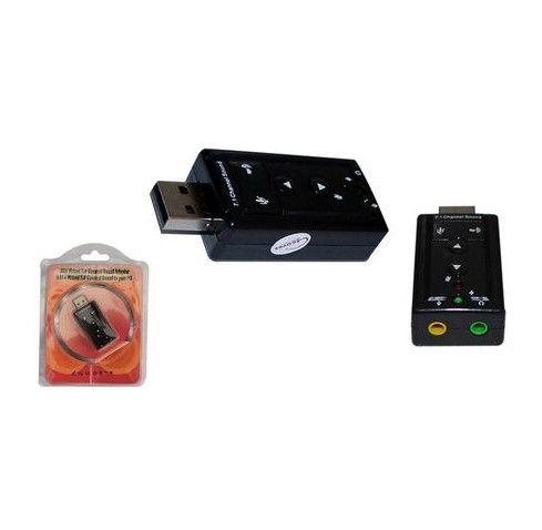 Placa De Som Externa Usb / P2/ Som Virtual / 7.1 /Fone e Microfone - Novo