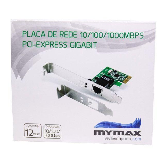 Placa De Rede 10/100/1000Mbps / PCI Express / Gigabit - Novo