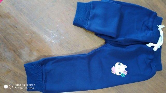 Calça de moletom infantil feminina - Foto 3