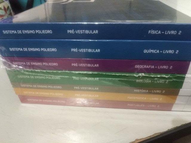 Apostilas poliedro nova e seminovas pré vestibular colegio integral - Foto 2