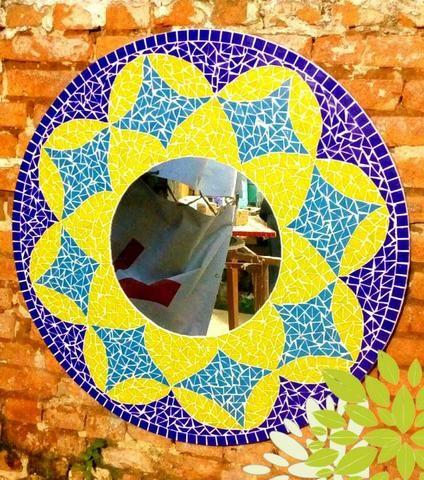 Espelho mosaico, banheiro, sala, sala de jantar, decoração - Foto 6
