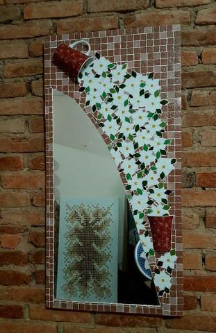 Espelho mosaico, banheiro, sala, sala de jantar, decoração - Foto 5