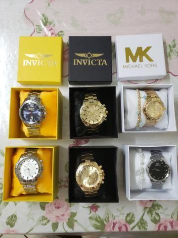 963736a47d5 Lindos relógios masculino e feminino