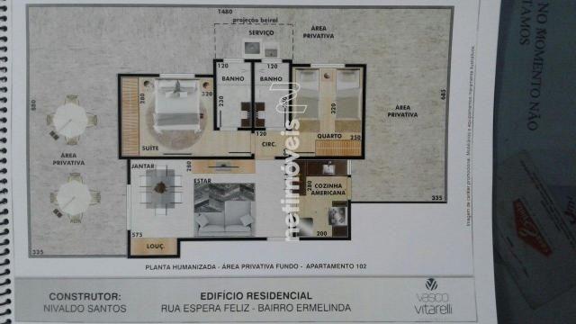 Apartamento à venda com 2 dormitórios em Vila ermelinda, Belo horizonte cod:769610 - Foto 4