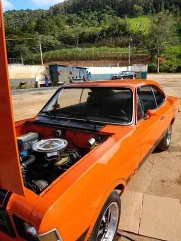 Opala ss de plaqueta original laranja boreal placa preta - Foto 9