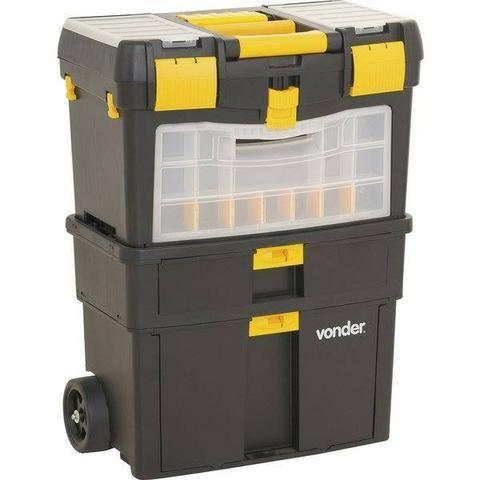 Caixa plástica com rodas CRV 0100 Vonder (NOVA)