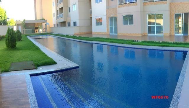 Apartamento para alugar em Fortaleza, bairro cajazeiras, 2 quartos, elevador, lazer - Foto 3