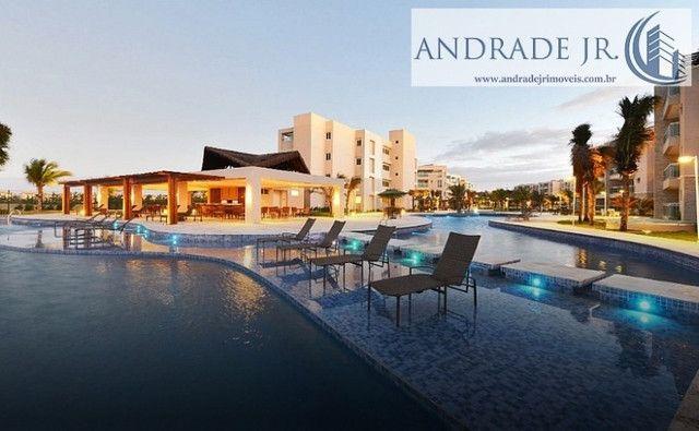 Apartamento de praia no Riviera em Aquiraz, com todas as opções de lazer e frente mar