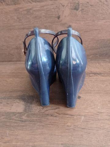 Anabela da Melissa azul Marinho - Foto 3