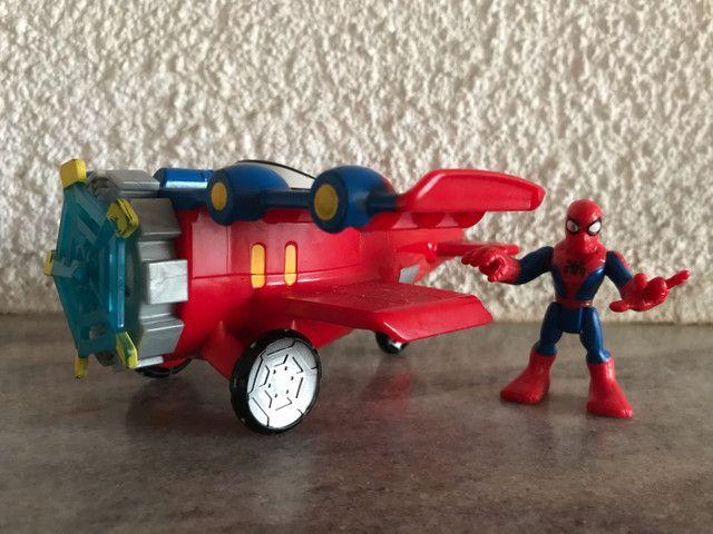 Avião aranha Marvel homem aranha spiderman Imaginext  - Foto 5