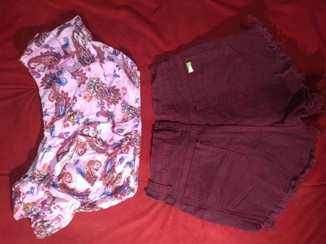 Dois Shorts Jeans com Lycra 38 por R$20 - Foto 2