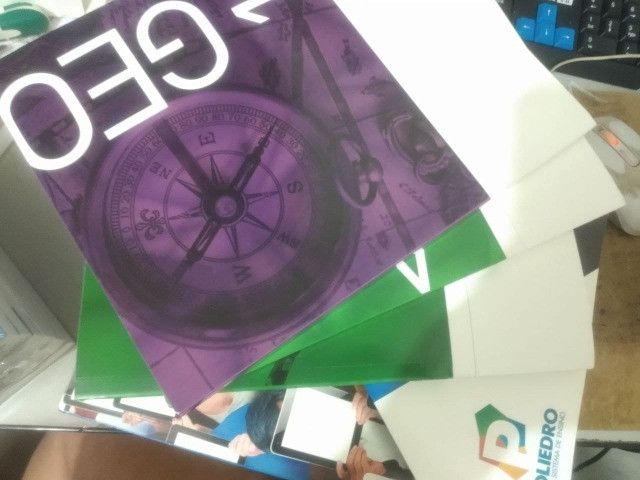 Apostilas poliedro nova e seminovas pré vestibular colegio integral - Foto 4