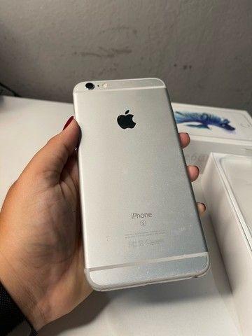 Vendo iPhone 6s Plus 64gb Prata/Silver/Branco - Foto 5