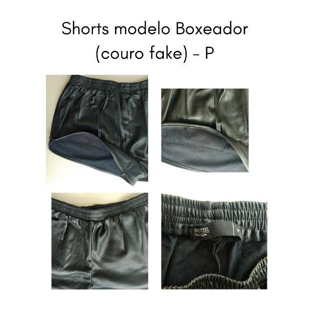 Shorts Boxeador Couro (fake) -P - Foto 3