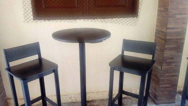 Conjunto bistrol com banqueta fixa - Foto 3
