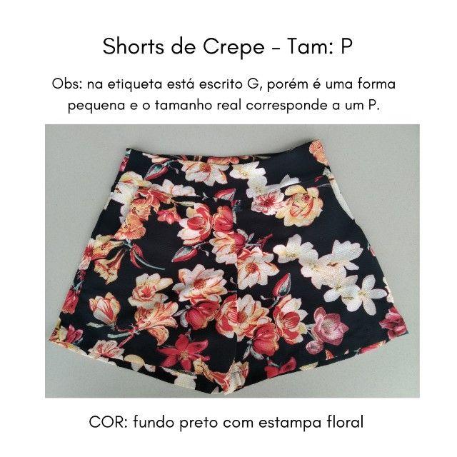 Shorts (Crepe) Estampado - P