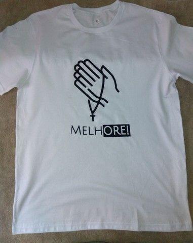Camisas, camisetas e baby looks de malha de algodão de alta qualidade - Foto 5