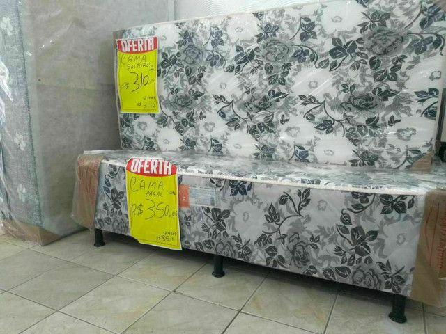 cama casal 250,00 Bicama sofá R$ 280,00  Cama luxo grandona 350,00   ipitanga - Foto 4