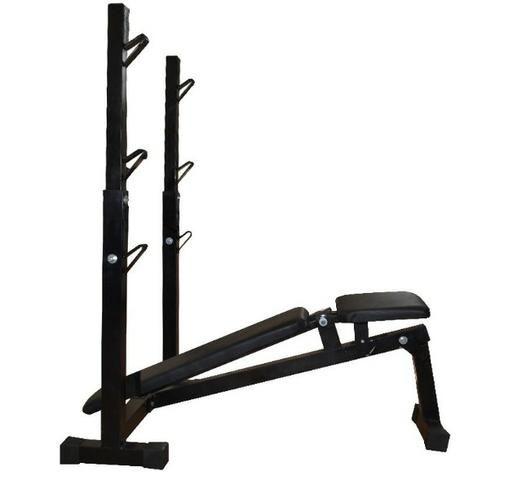 Banco Supino Reto, Inclinado E Declinado Para Musculação -Fitness Prado - Foto 4