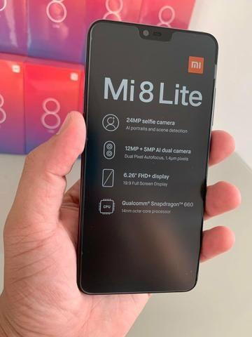7d916bff8a7 Xiaomi mi 8 lite 64gb preto com 1 ano de garantia
