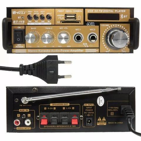 Mini modulo amplificador de som com Bluetooth