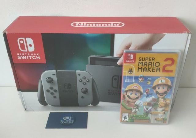 Nintendo Switch Novo + Jogo Super Mário Maker 2