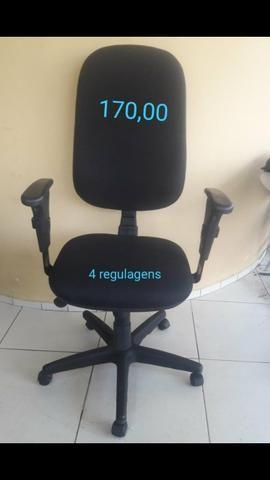 Cadeiras estofadas de escritório - Foto 6