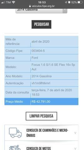 Vendo/Troco Ford Focus 1.6 S 16V Powershift - Flex - 2014 - Foto 7