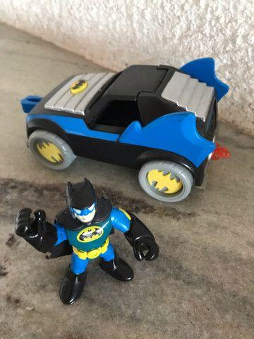 Batmóvel com batman DC comics Imaginext  - Foto 4