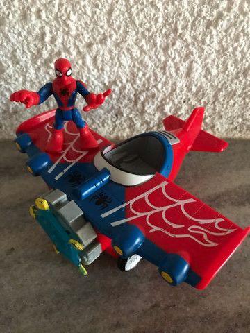 Avião aranha Marvel homem aranha spiderman Imaginext  - Foto 3