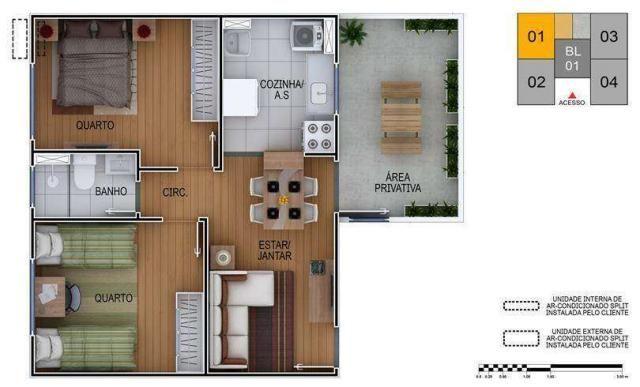 São Bento - Apartamento 2 quartos em Poá, SP - 44m² - ID3919 - Foto 4
