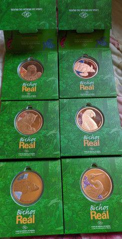 Vendo série de medalhas de bronze da casa da moeda. - Foto 2