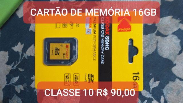 cartão de memória kodak 16gb classe 10 fullhd