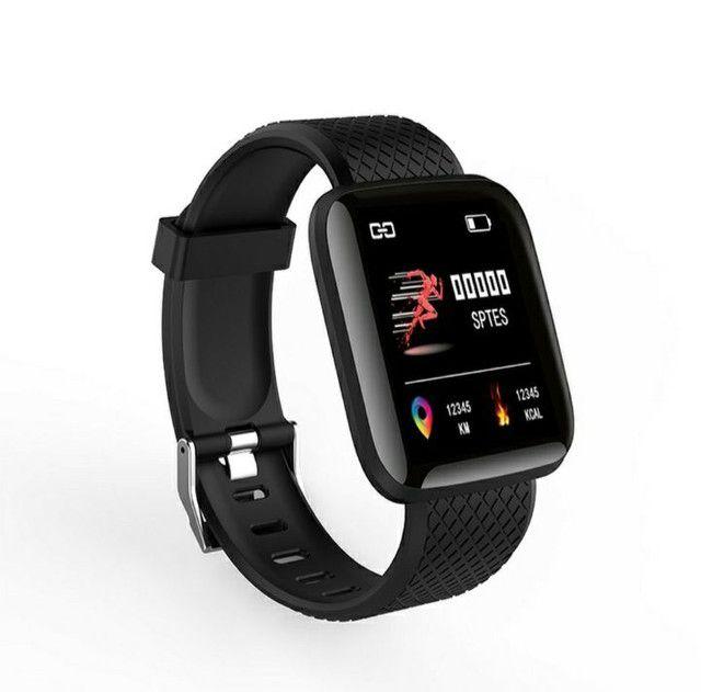 Relógio Inteligente / Smartwatch 116Plus À Prova D 'Água' Água Ip67 D13 / Batimentos - Foto 2