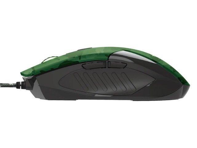 mouse gamer trust rixa camo verde camuflado 3200dpi usb com mouse pad - Foto 6