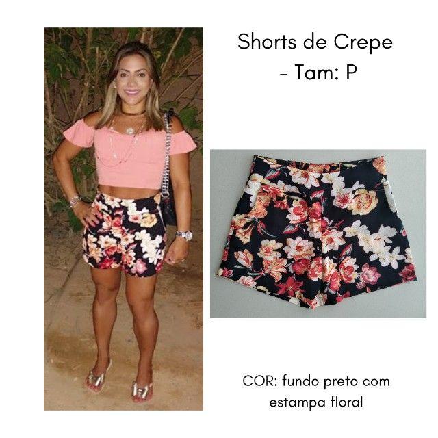 Shorts (Crepe) Estampado - P - Foto 2