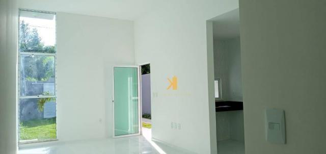 Casa com 3 dormitórios sendo 2 suítes à venda, 88 m² por R$ 219.000 - Timbu - Eusébio/CE - Foto 4
