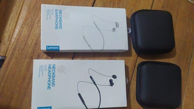 Fone de ouvido Bluetooth sem fio Lenovo HE05 - Foto 2