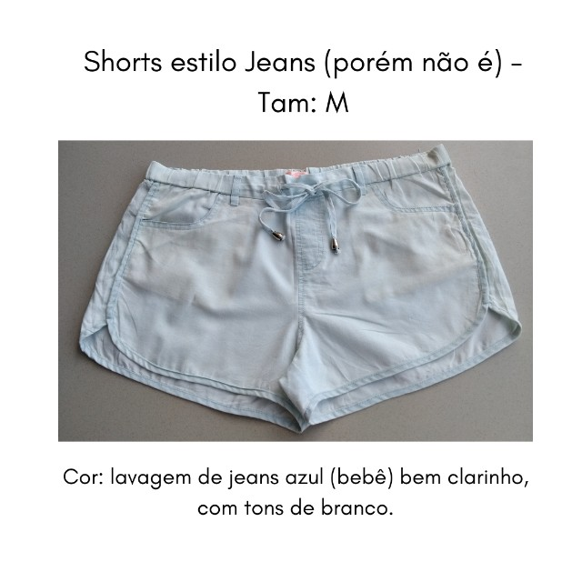Short (imita jeans) M