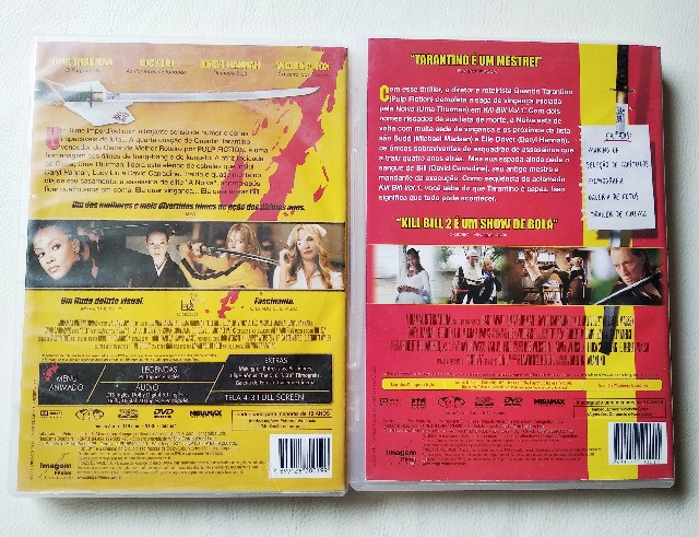 Dvd Kill Bill Volume 1 E 2 Com Selo De Locadora - Foto 3