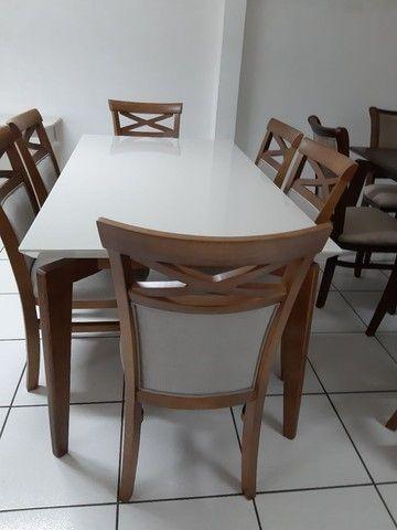 Imperdivel-Mesa retangular+ 6 cadeiras modelo terra