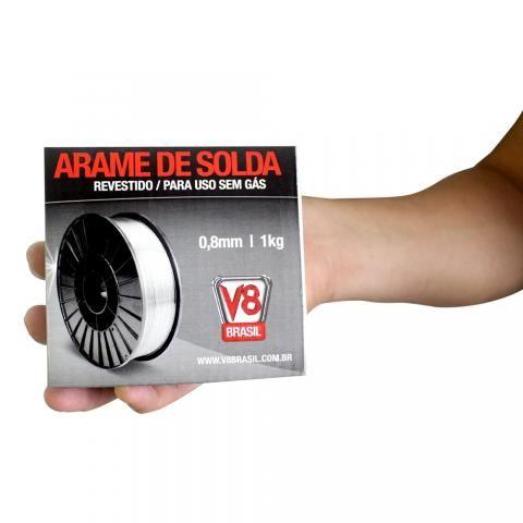 Arame Mig Revestido Para Uso Sem Gas (1kg)- V8brasil - Foto 4