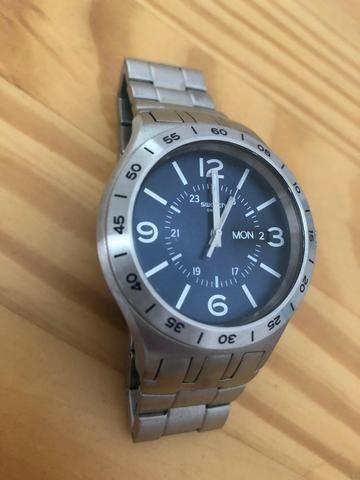 bd89aa22994 Relógio Swatch YTS702G In A Navy Mode - Bijouterias