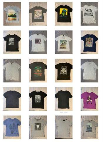 0e3ca8ea72 116 (cento e dezesseis) camisetas reserva osklen kanui calvin klein ride 13  reais cada