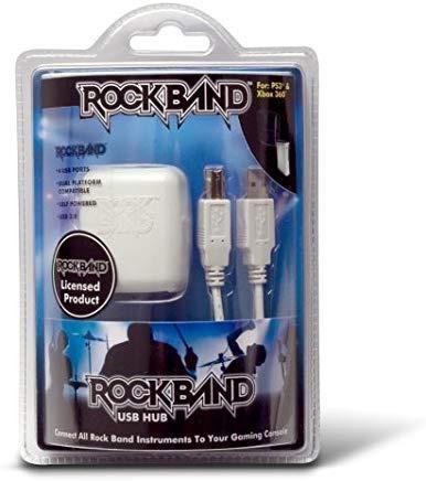 Rock Band Universal 4 Port Usb Hub Xbox 360 Ps2 Ps3